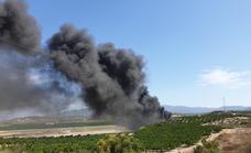Una gran columna de humo negro alerta a los vecinos de Antas