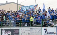 Los 'azulillos' acompañaron a su equipo en Cáceres