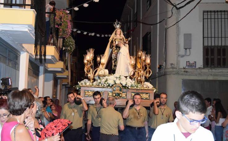 Procesión de la Virgen del Carmen en Loja