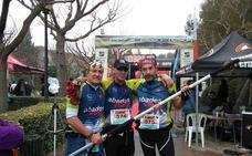 El lojeño Miguel Ángel Luque, campeón de Andalucía de carreras de montaña para invidentes