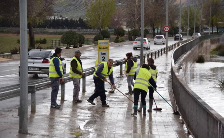 El temporal entierra los espárragos de Huétor Tájar
