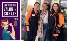 La exposición 'Valor y coraje' muestra en Moraleda el papel de la mujer en el mundo laboral