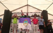 El lojeño Miguel Ángel Luque, campeón de España de 'trail' para invidentes