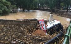 Una tromba de agua inunda Riofrío