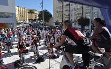 'Spinning' dominguero y solidario en Loja