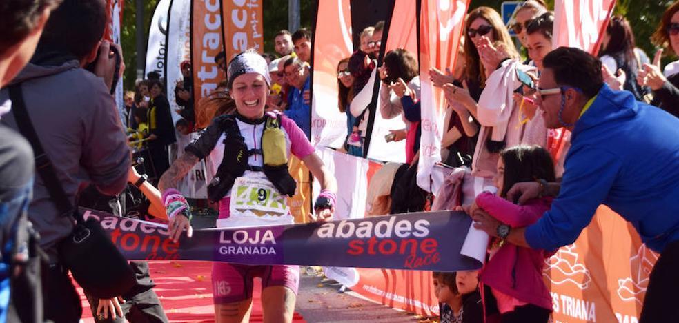 Brillante carrera de Zaid Ait y Azara García en la Abades Stone Race de Loja
