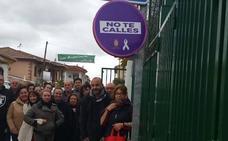 Los pueblos de Moclín 'señalizan' sus calles contra la Violencia de Género