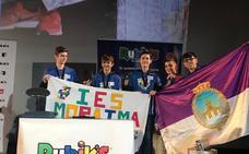 El equipo lojeño del IES Moraima, campeón de España del Cubo de Rubik
