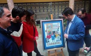 Amanda Paradís y Raúl Astorga crean un cartel de Carnaval «muy lojeño» y 'teoletero'