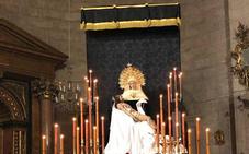 El palio de la Virgen de la Soledad de Loja estrenará las corbatas bordadas y la Gloria de su techo
