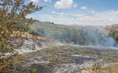 Pequeño susto en Moraleda por un incendio forestal en la fuente de la higuera