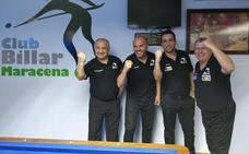 El club de Maracena, campeón de Andalucía de billar a tres bandas