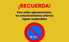 Siguen suspendidos los aparcamientos alternos en Maracena