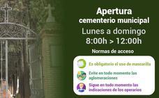 Reabre el Cementerio Municipal de Maracena tras dos meses cerrado
