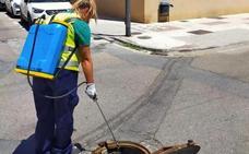 Fumigación y limpieza para el control de plagas en las calles de Maracena