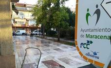 Continúan los trabajos de limpieza y desinfección en los espacios públicos de Maracena