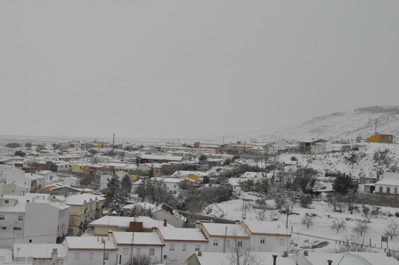 Espectacular nevada en Baza