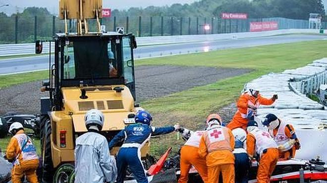 Jules Bianchi: vídeo del accidente en Suzuka (Japón)