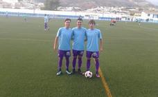 Sergio Araque, Miguel Herenas y Antonio Lendínez, jóvenes peloteros con clase blancos