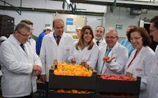 La presidenta de la Junta visitó las instalaciones de Vicasol y habló de su apoyo al sector agrícola