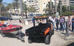 Dos vehículos 4x4 y una embarcación se incorporan al servicio de playas