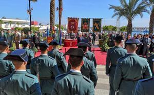 Roquetas de Mar se volcó con la Guardia Civil
