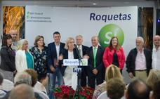 María José López presenta la candidatura de Roquetas Sí con el apoyo de Julio Ortiz