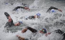 Participación récord en los nacionales de sprint y acuatlón de Roquetas