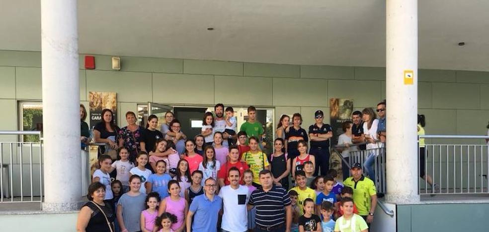 Sebas Martos, atleta invitado en el primer ciclo de conferencias de atletismo de Bélmez de la Moraleda