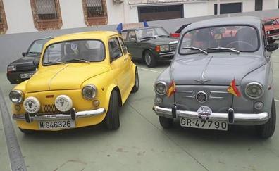 Concentración de coches clásicos en La Guardia