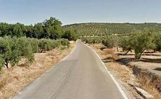 Corte en la carretera de Santa Eulalia por las obras de renovación de todo su trazado