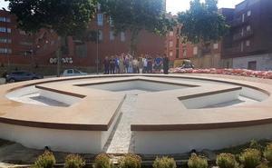 Nuevo aspecto para la rotonda de la plaza Padre Villoslada