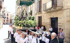 Traslado de la Virgen de Guadalupe hasta la iglesia de la Trinidad