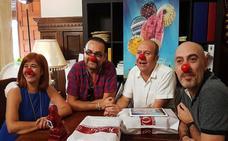 Los Salpiñoni visitaron el Ayuntamiento en las horas previas a su pregón de la Feria de Úbeda