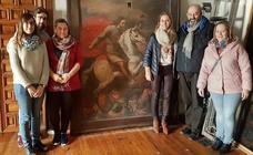Restauración del cuadro del siglo XVII que sufrió un intento de robo en el Hospital de Santiago