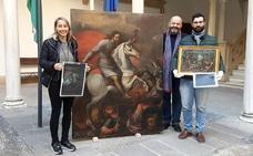 Finaliza la restauración de dos cuadros del XVI del fondo pictórico del Ayuntamiento