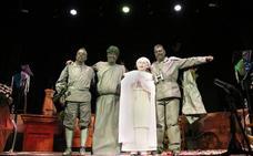 Cuatro estatuas cobraron vida para anunciar el inicio del Carnaval ubetense