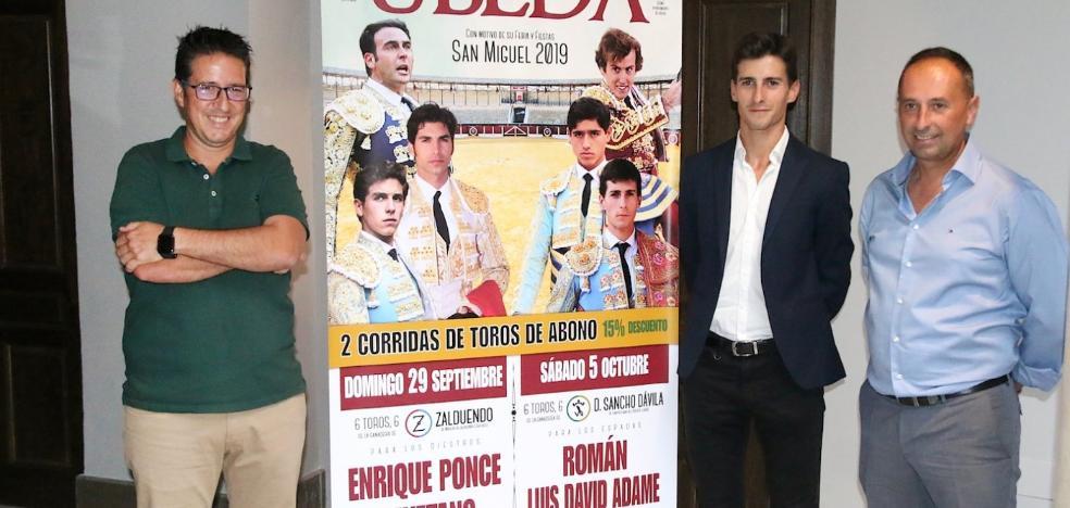 Ponce, Cayetano, Román y Ginés Marín, en la feria taurina