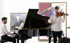 Concierto de viola y piano en la sala Pintor Elbo del Hospital de Santiago