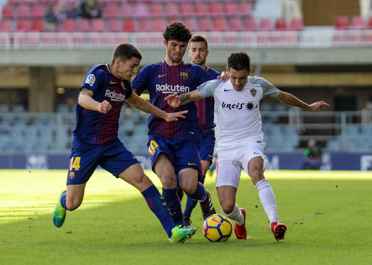 El empate del Almería ante el Barcelona B, en imágenes