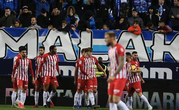 El Málaga-Almería, en imágenes