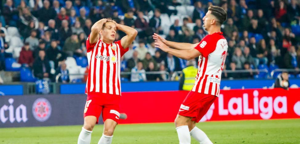 El Almería lamenta la falta de gol