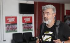 Óscar Fernández conoce las instalaciones de la UD Almería
