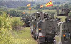 El general Martín Cabrero asiste al ejercicio 'Noble Jump' de la OTAN