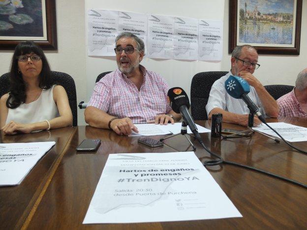 La Mesa llama a Almería a luchar «por un tren digno y adaptado»