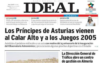 Los Príncipes de Asturias, en Almería