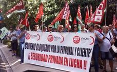 Trabajadores de la seguridad privada afean el bloqueo del convenio y ven un deterioro del servicio