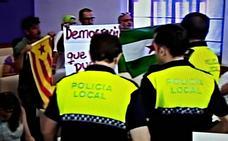 Tensión en el pleno de Jaén por la independencia de Cataluña