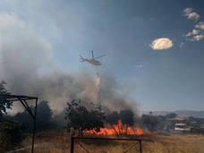 Regresan a sus casas los 50 desalojados por el incendio en Moraleda