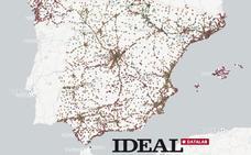 El mapa con todas las gasolineras de España. ¿Cuáles son las más baratas y más caras?